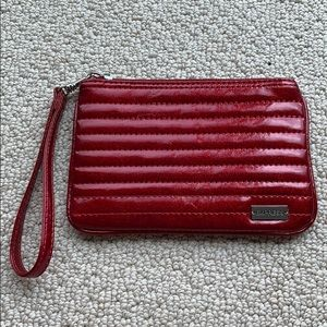 Express Red Sparkly Wristlet